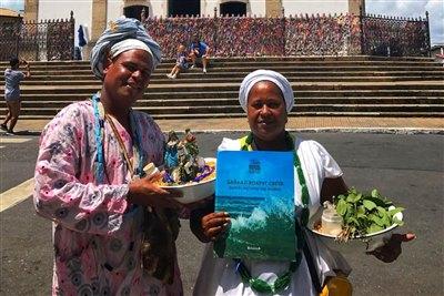 Книга «Байкал вокруг света» в первой столице Бразилии — городе Сальвадоре